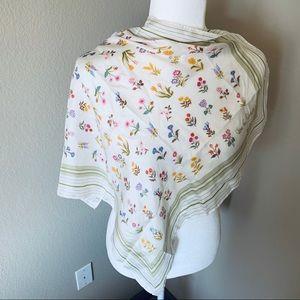 Vintage DvF Floral Silk Square Scarf